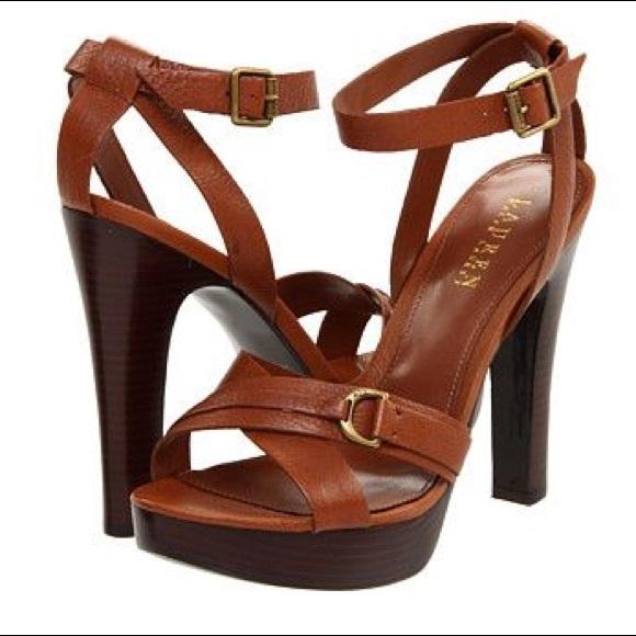 0fa7e3e9586 Sexy Boho Lauren by Ralph Lauren Platform Heels